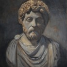 Marcus Aurelius by Anthony Wooding Oil on canvas