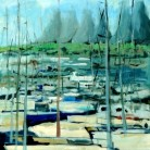 Neptune Quay 2012 Val Jones Acrylic on canvas