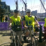 Anthony Wooding of Kerseys and Debbie Wooding at the Ipswich Skyride.