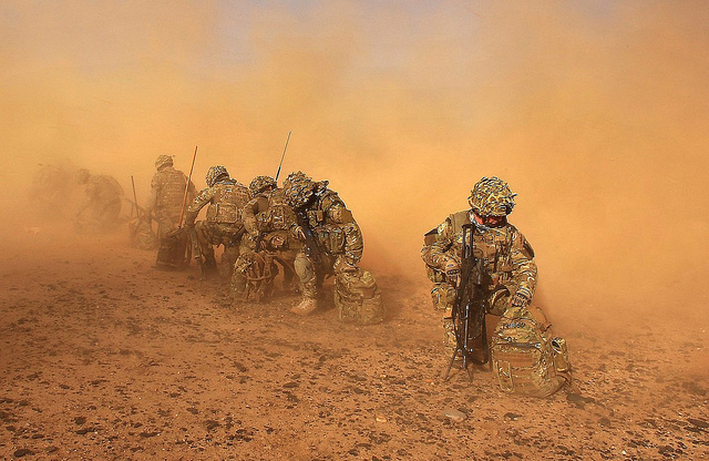 Photograph of Royal Marines, UK Ministry of Defence, flickr