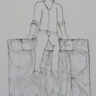 Advocates of Civility: The Protector. Aluminium wire approx. 76cm x 50cm Michelle Bowden £230