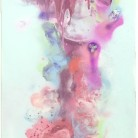 'Utopia' by Joanne Chan. Original spray paint on canvas, 915 x 306 mm. Price £1,250.