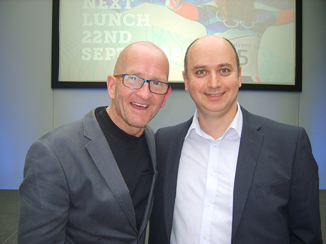 Eddie the Eagle and Kerseys' head of Private Client, Peter Awad