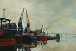 ANNE PLUMMER Ipswich Dock 30x24 inch