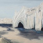Arctic Jewell Jenny George Gesso, Acrylics and Iridescent Medium on Canvas 80cm x 30cm