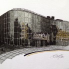 The Glass Building Jenny George Ink on Paper 39cm x 27cm £100 (framed original)