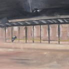 Outside Ipswich Station Ant Wooding Oils on Canvas 100cm x 75cm £500