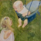 Ethan and Isabella Lewis Ant Wooding Oils on Canvas 50cm x 50cm NFS
