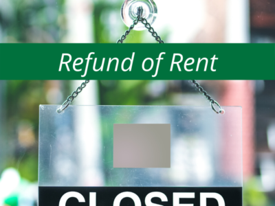 Refund of Rent
