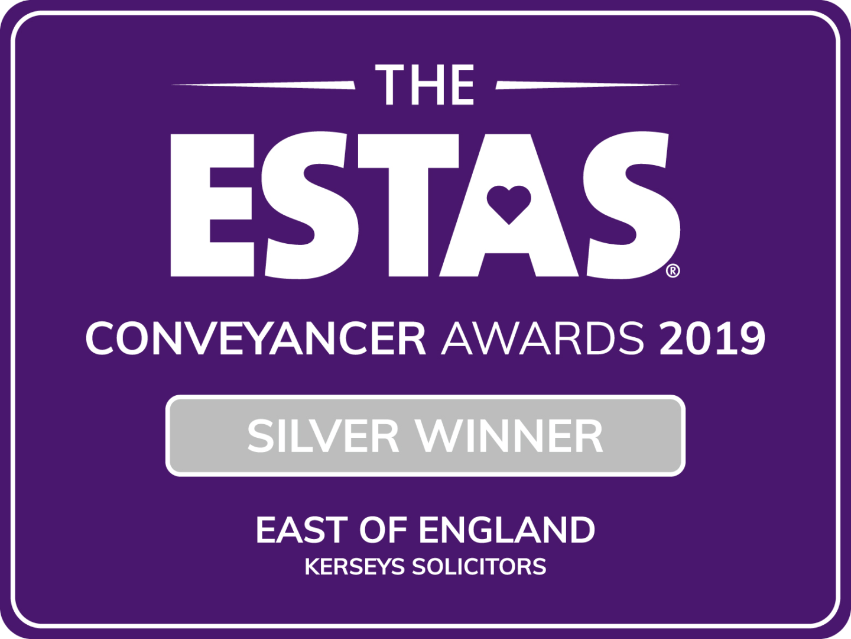 Silver Winner - East of England ESTAS Conveyancer Award 2019