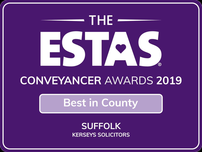 Best in County ESTAS Conveyancer Award 2019