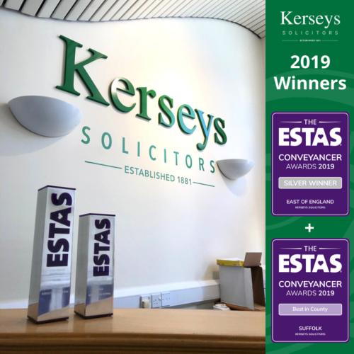 Kerseys Solicitors ESTAS Awards 2019