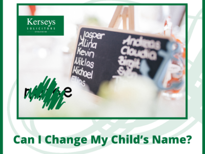 Can I Change My Child's Name_