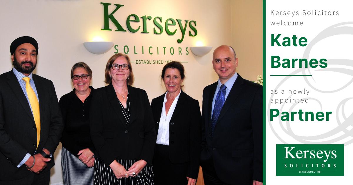 Kerseys Welcomes Kate Barnes