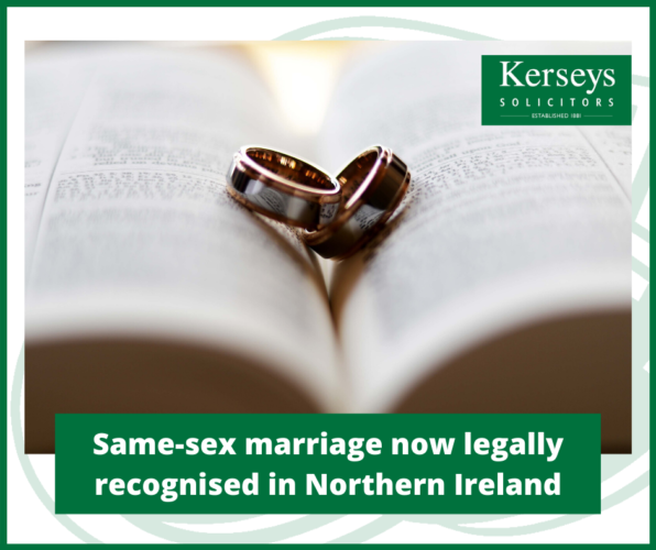 Same-sex marriage now legally recognised in Northern Ireland