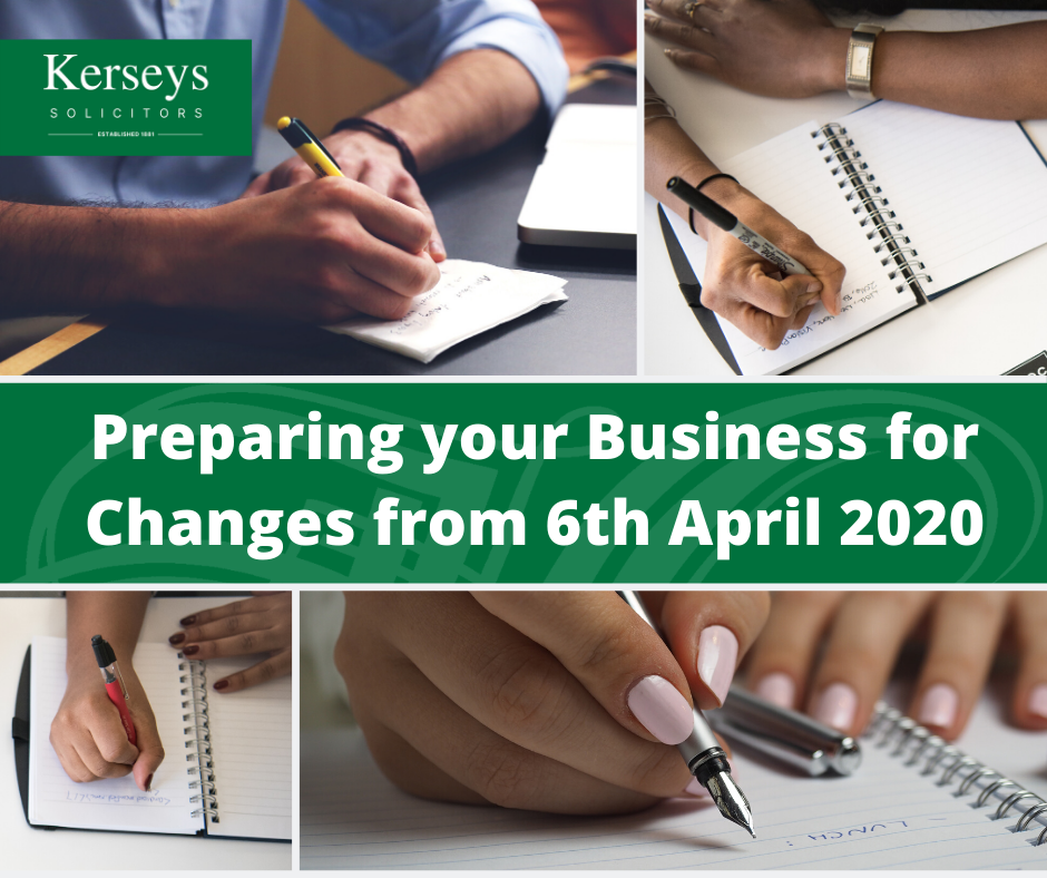 Preparing your Business for Changes in April 2020