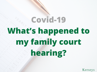 Covid-19 - Family court hearing
