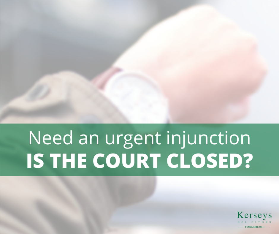 Covid-19 - Need an urgent injunction