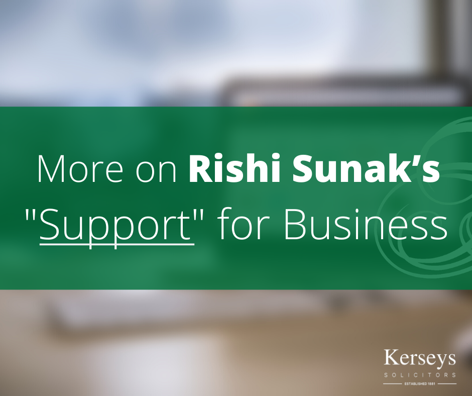 """More on Rishi Sunak's """"support"""" for business"""