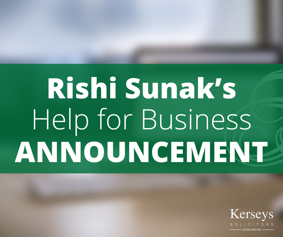 Rishi Sunak's Help for Business Announcement