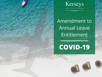 Amendment to Annual Leave Entitlement COVID-19