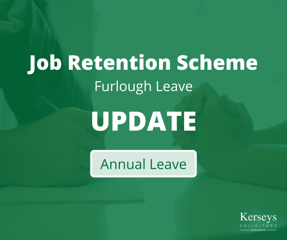 Coronavirus Job Retention Scheme – Annual Leave update