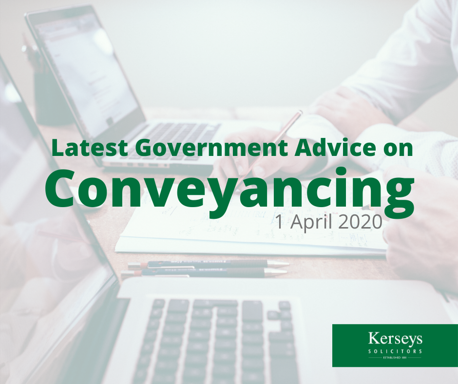 Latest Government Advice on Conveyancing
