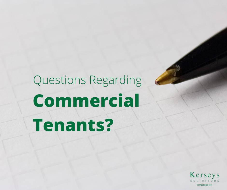 Questions Regarding Commercial Tenants