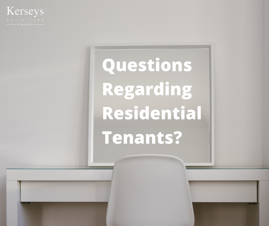 Questions Regarding Residential Tenants