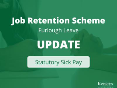 Statutory Sick Pay - Job Retention Scheme