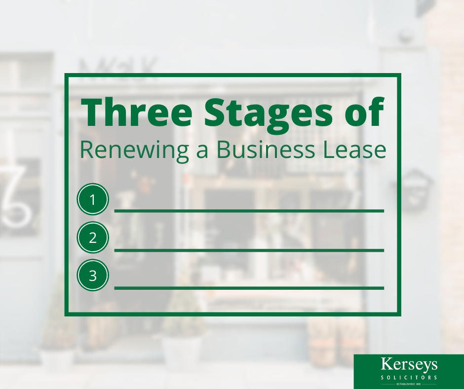 Three Stages of Renewing a Business Lease