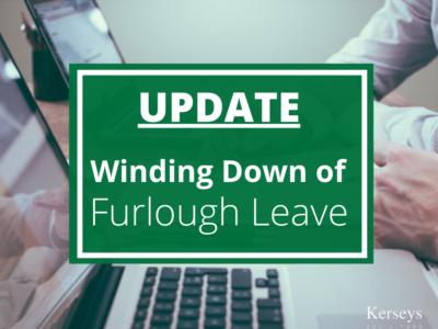 Winding down of furlough leave