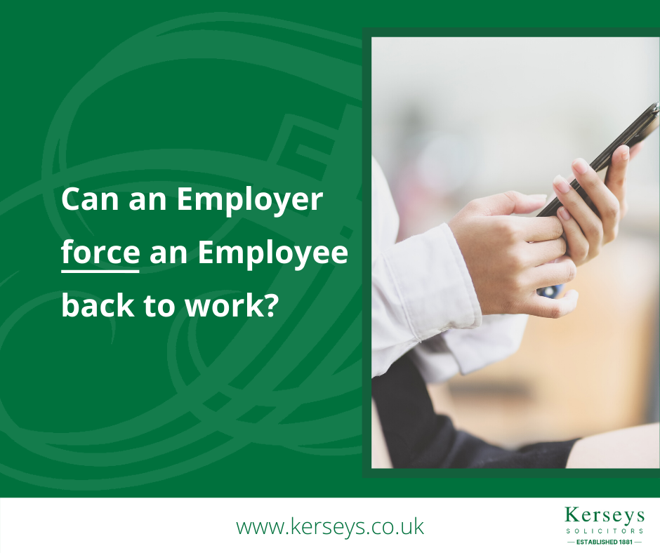 Can an Employer force an Employee back to work