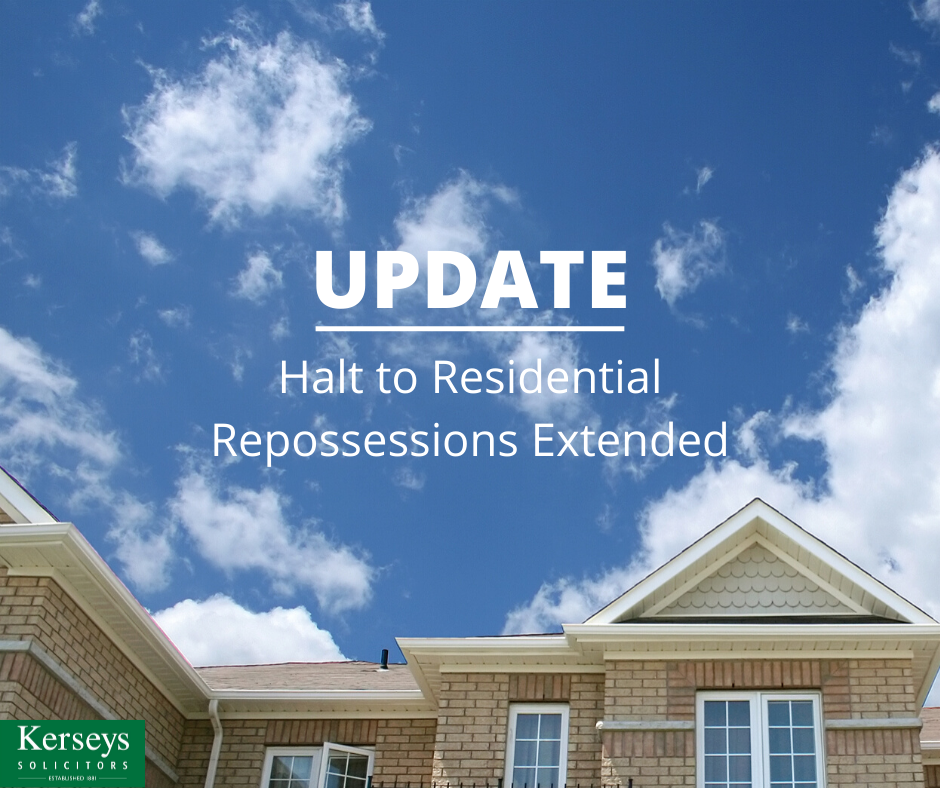 Halt to Residential Repossessions Extended