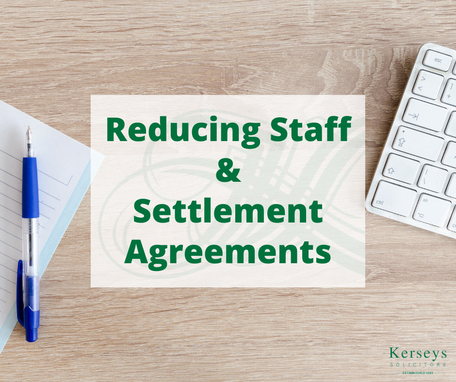 Reducing Staff and Settlement Agreements