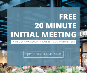 Free 20 minute meeting Commercial Property