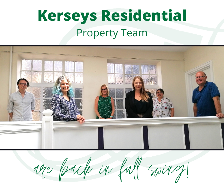 Kerseys Residential Property Team are back in full swing!