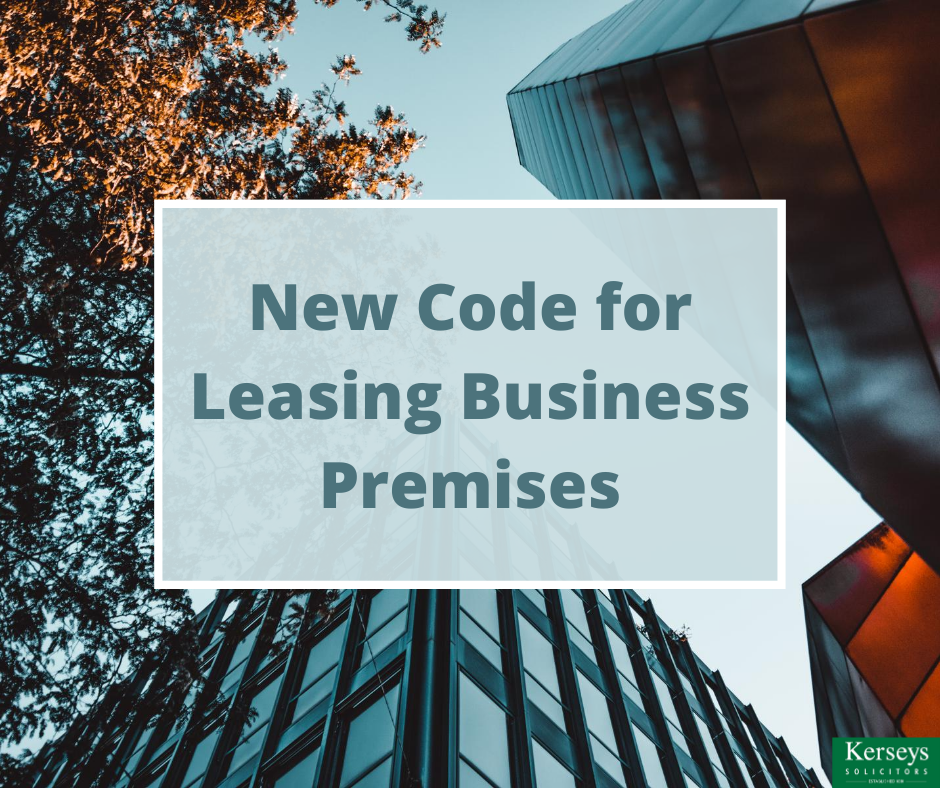 New Code for Leasing Business Premises