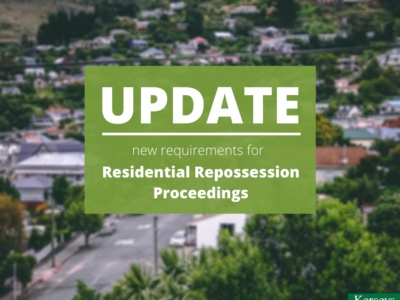 Update Residential Repossession Proceedings