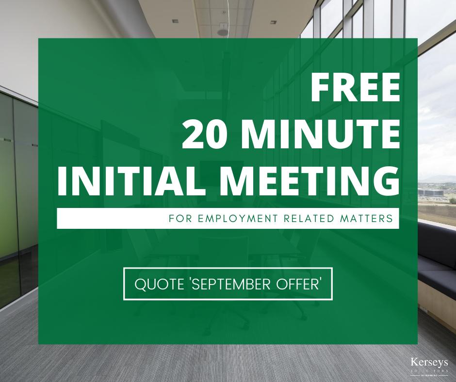 free 20 minute initial meeting