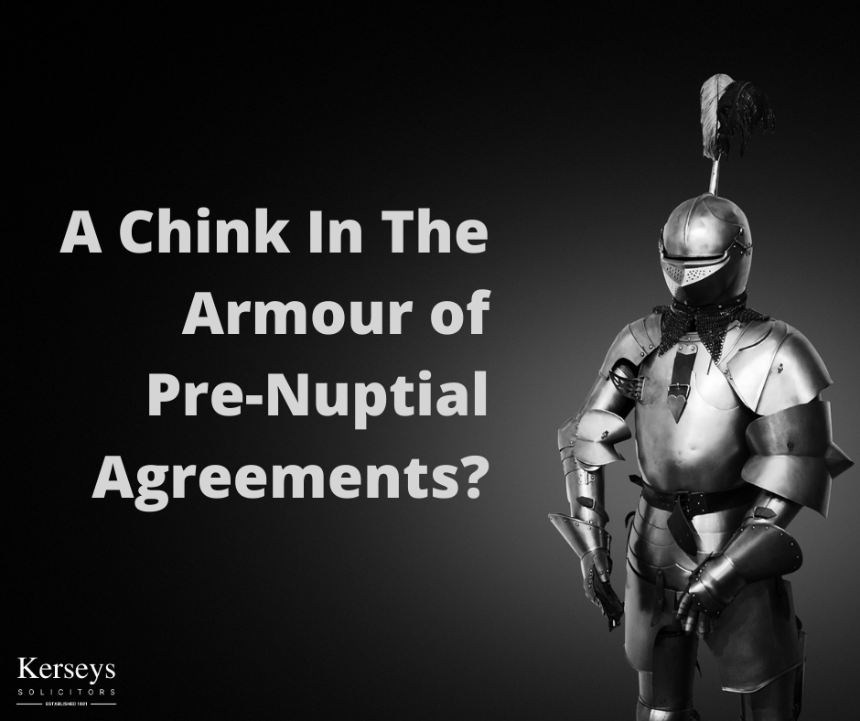 A Chink In The Armour of Pre-Nuptial Agreements?