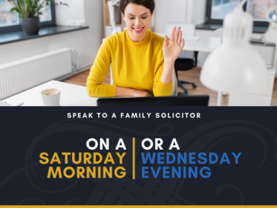 See a Family Solicitor Sat & weds