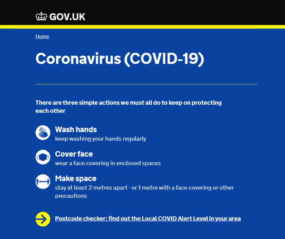 gov.uk coronavirus