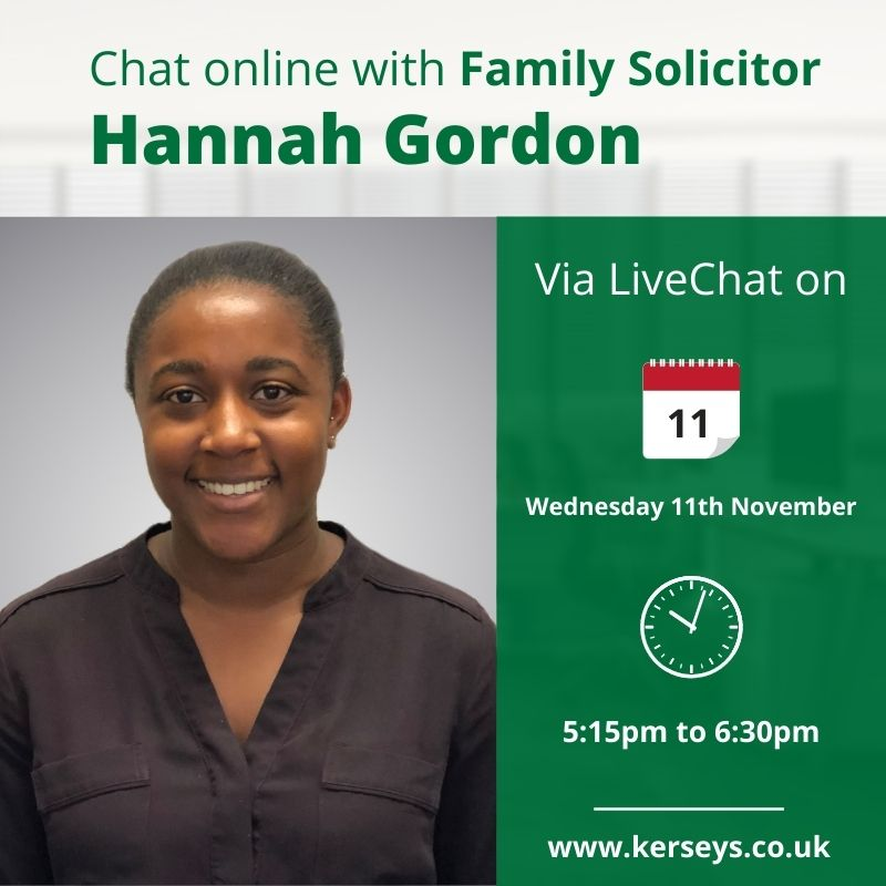 Chat online with Hannah Gordon Family Solicitor