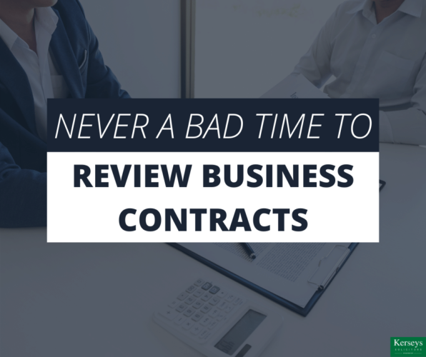Never a Bad Time to Review Business Contracts