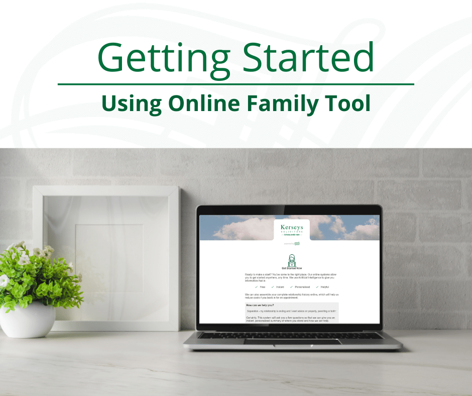 Getting Started Using Online Family Tool