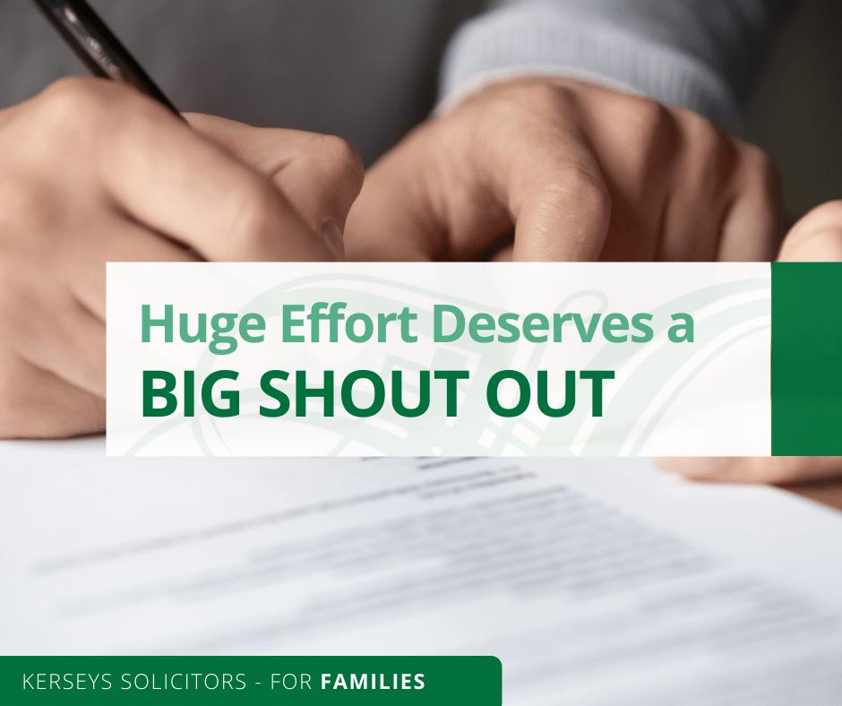 Huge Effort Deserves a Big Shout Out