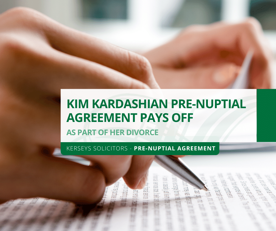 Kardashian Pre-Nuptial Agreement Pays Off