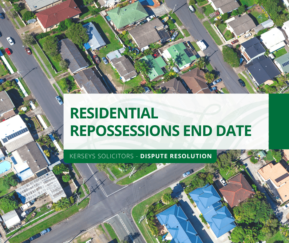 Residential Repossessions End Date
