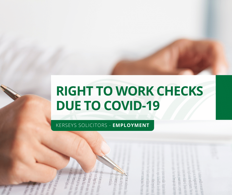 Right to Work Checks due to COVID-19